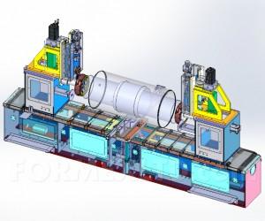 Машина за кантоване на цилиндрични детайли от листов материал 3D