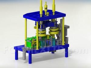 Машина за обрязване и кантоване на капаци 3D model