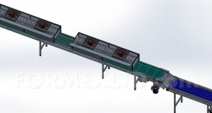 Охладителен тунел с верижни транспортьори